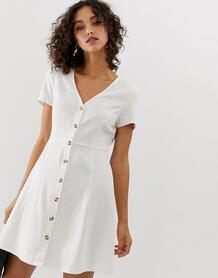 Чайное платье на пуговицах -Белый Vero Moda 8448398