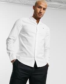 Белая оксфордская приталенная рубашка -Белый TOMMY JEANS 10083590