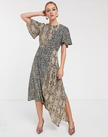 Асимметричное платье мидакси -Мульти Glamorous 8939557