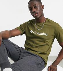 Базовая футболка цвета хаки с логотипом CSC – эксклюзивно для ASOS-Зеленый цвет Columbia 11380145