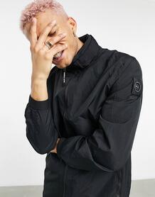 Удлиненная куртка черного цвета изтехнологичной ткани Acier-Черный цвет Marshall Artist 11450557