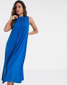 Синее платье-трапеция -Голубой Closet London 9771965
