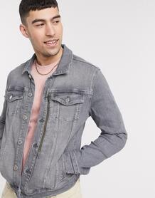 Серая джинсовая куртка -Серый River Island 10106377