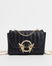 Черная стеганая сумка через плечо -Черный ASOS DESIGN 10105738