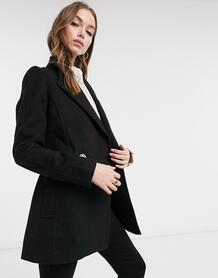 Черная куртка с запахом и поясом -Черный Forever New 10397060