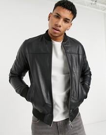 Черная кожаная куртка -Черный цвет SELECTED 11307160