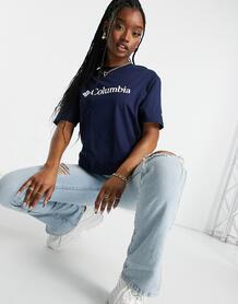 Темно-синяя базовая футболка с логотипомCSC-Темно-синий Columbia 11209463