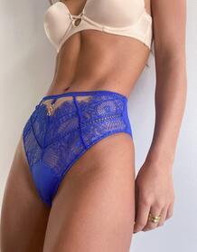 Синие бразильские трусы с кружевной отделкой -Синий Ann Summers 9848615