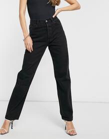 Черные джинсы свободного кроя в стиле 90-х с высокой посадкой -Черный Miss Sixty 10980527