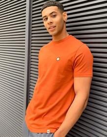 Оранжевая футболка Mitchell-Оранжевый Pretty Green 11170304