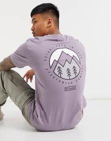 Фиолетовая футболка Cades Cove Outdoor Park-Фиолетовый цвет Columbia 10663253