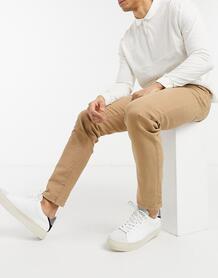 Выбеленные узкие брюки Leon-Бежевый SELECTED 11485829