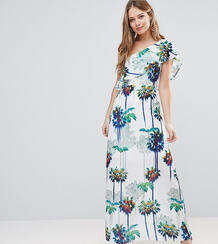 Платье макси на одно плечо с принтом пальм -Мульти Every Cloud 5717468