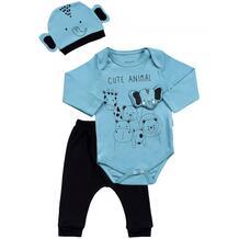 Комплект для мальчика (боди, брюки, шапка) MW15297 MINI WORLD 1065784