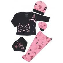 Комплект для новорожденного (распашонка, ползунки, шапка, нагрудник и царапки) MW15391 MINI WORLD 990512