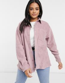 Куртка-рубашка в стиле oversized из флиса -Розовый ASOS DESIGN 10193842