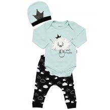 Комплект для девочки (боди, брюки, шапка) MW15308 MINI WORLD 1066093