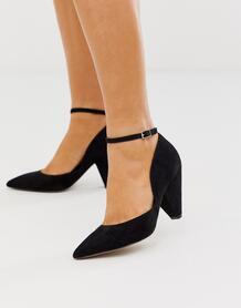 Черные остроносые туфли на среднем каблуке - Speak Out-Черный ASOS DESIGN 8492409