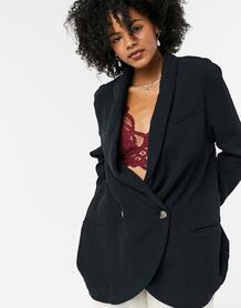 Черный пиджак Free People 10219487