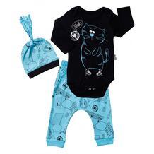 Комплект для мальчика (боди, брюки, шапка) MW15413 MINI WORLD 1066439