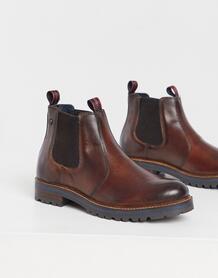 Коричневые кожаные ботинки челси -Коричневый цвет Base London 10180233