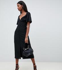 Платье макси с рукавами клеш -Черный Fashion Union Tall 7767549