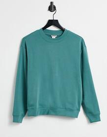Сине-зеленый свитшот из органического хлопка Nana-Зеленый цвет Monki 10967833