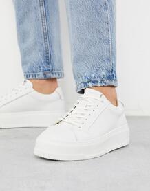 Белыекожаные кроссовки на платформе-Белый Vagabond 9445453