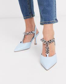 Голубые туфли на каблуке -Синий ASOS DESIGN 9061908