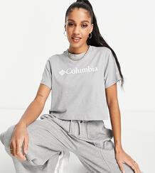 Укороченная футболка светло-серого меланжевого цвета CSC – эксклюзивно для ASOS-Серый Columbia 11209502