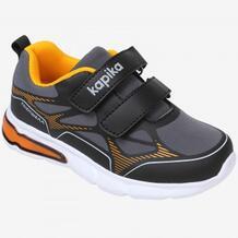 Кроссовки для мальчика Kapika, темно-серый, оранжевый MOTHERCARE 642839
