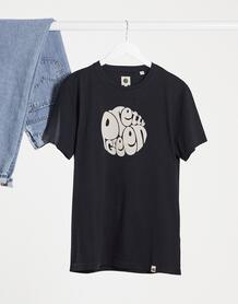 Черная футболка с большим логотипом -Черный цвет Pretty Green 10567230
