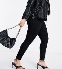 Черные джинсы скинни с завышенной талией ASOS DESIGN Curve-Черный цвет Asos Curve 10729895