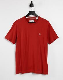 Темно-красная футболка с вышитым точечным логотипом -Красный Original Penguin 11530140