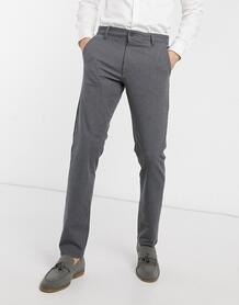 Строгие серые брюки в клетку -Серый SELECTED 9776718