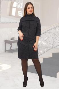 Платье трикотажное Шлейф (черное) рр Инсантрик 49109