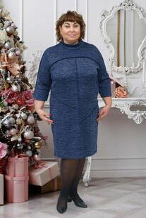 Платье трикотажное Шлейф (синее) рр Инсантрик 49110