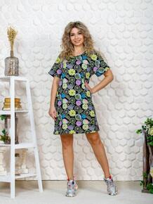 Платье трикотажное Анисья (апельсин) Инсантрик 49257