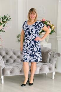 Платье трикотажное Габи (темно-синее) Инсантрик 49419