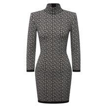 Платье из шерсти и вискозы BALMAIN 11821061