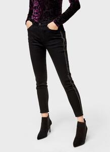 Узкие джинсы с лампасами O`Stin 174100400299