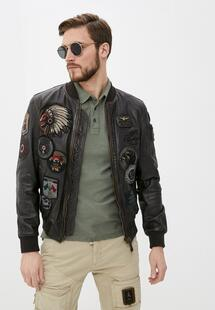 Куртка кожаная Aeronautica Militare RTLAAA032801I540
