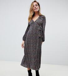Платье макси с цветочным принтом и запахом ASOS DESIGN Petite-Мульти Asos Petite 7760730