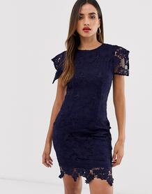 Кружевное платье с рукавами клеш -Многоцветный Ax Paris 8656561