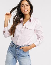 Фактурная блузка -Розовый цвет Ichi 9518428