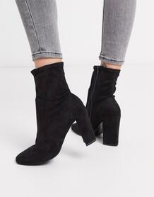 Черные ботинки из искусственной замши -Черный River Island 9546161