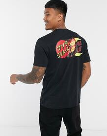 Черная футболка с принтом -Черный Santa Cruz 10398012