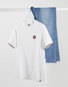Белая футболка с окантовкой на рукавах Likeminded-Белый Pretty Green 10566977