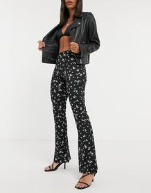 Расклешенные брюки с цветочным принтом -Многоцветный Only 10848478