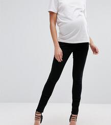 Черные джинсы скинни со вставкой для живота ASOS DESIGN Maternity Tall-Черный Asos Maternity 4900905